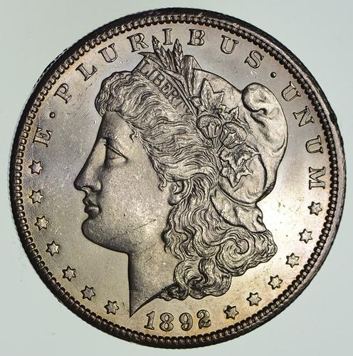 1892-CC Morgan Silver Dollar - Circulated