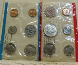 2 each 1968 Uncirculated Mint Set, 40% Silver,
