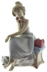 Lladro Figurine Girl on Phone