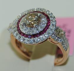 18kt Rose Gold Ruby & Diamond Ring