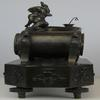 French Mantle Clock of Maiden and Cupid Bronze Sculptur