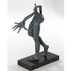 Modern Art Bronze Sculpture on Marble Base Statue