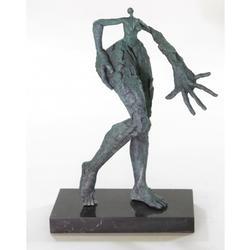 Modern Art Bronze Sculpture on Marble Base Statue