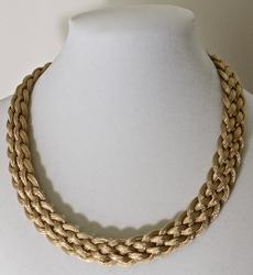 Gorgeous Italian-Made 14K Woven Necklace