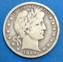 1899-0 BARBER HALF DOLLAR  CIRC.