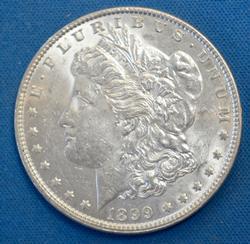 1899  MORGAN DOLLAR  AU-BU