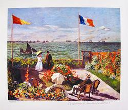 Claude Monet, Terrace By The Seaside