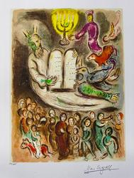 Limited Edition Marc Chagall Moses And The Tablets