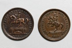 2 1863 Washington Patriotic Civil War Tokens