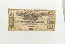 Early $10 CSA Note September 2 1861