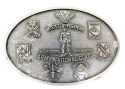 Vintage West Virginia Army National Guard Belt Buckle