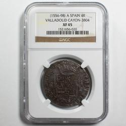 4 Real Spain 1556-98 Valladolid NGC XF 45