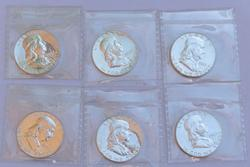 2 Each 1961-1963 Proof Franklin Halves