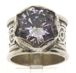 Sterling Silver Silpada Rustic Royalty CZ Ring