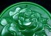 Flower Blossom Green Jade Carved Pendant
