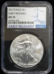 2017 Certified Silver Eagle MS70 NGC Early Release