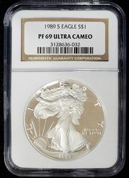 1989 Certified Proof Silver Eagle PF69 NGC