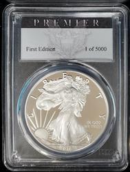 2016 W Certified Proof Silver Eagle PR70 PCGS