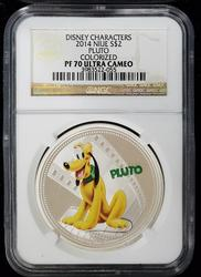 2014 Certified Disney Pluto Colorized PF70 NGC