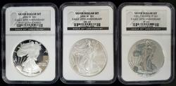 2006 Certified 20th Aniv Silver Eagle Set MS/PF69 NGC