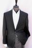 Black Color Textured Comfort Fit Notch Lapel Sport Coat