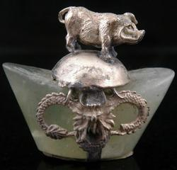 Tibetan Horoscope Zodiac Piggy Ingot Feng Shui Miniature