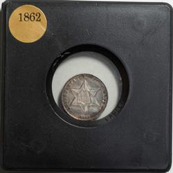 1862 Uncirculated 3 Cent Silver