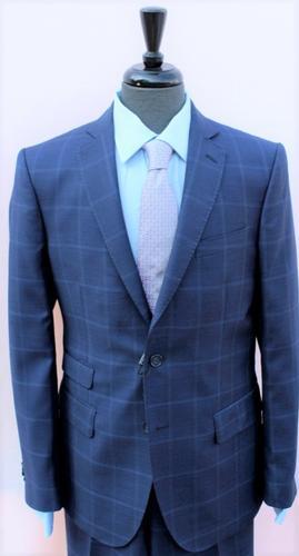 Stylish Plait Italian Made Slim Fit Suit
