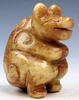 Jade Carved Nephrite Ancient Seated Monster Sculpture