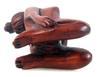 Hand Carved Japanese Boxwood Nude Geisha Netsuke