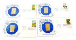 4 - 1st Day Issues & 23KT Gold Replica Stamps, 1981