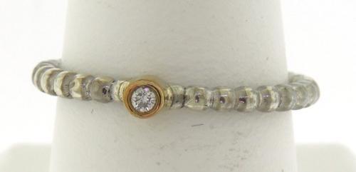 Sterling Silver Pandora Bezel Cubic Zirconia Ring
