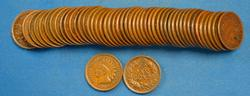 50 MIXED DATE INDIAN CENTS   FINE - VERY FINE