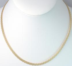 14KT Yellow Gold Weave 16 Inch Necklace