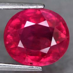 Rich Imperial red 3.92ct Ruby from Mozambique