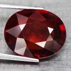 Substantial 5.85ct untreated red amber Garnet