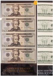 4 NOTE $20 STAR UNCUT SHEET SERIES 2003A BOSTON FED