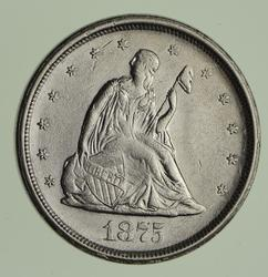 1875-S Seated Liberty Quarter - Circulated