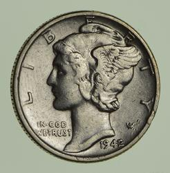 1942/1 Mercury Dime - Circulated