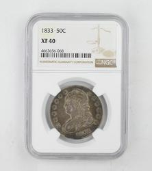 XF40 1833 Capped Bust Half Dollar - NGC Graded