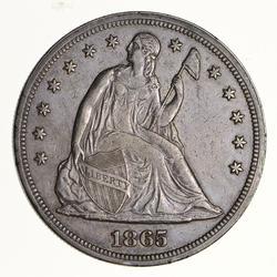 1865 Seated Liberty Silver Dollar - Circulated