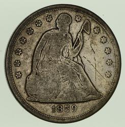 1859-O Seated Liberty Silver Dollar - Circulated