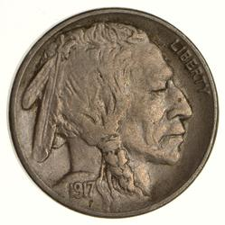 1917-S Buffalo Indian Head Nickel - Circulated