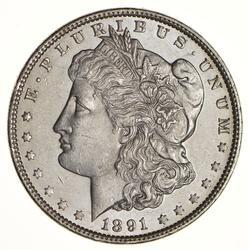 1891 Morgan Silver Dollar - Choice