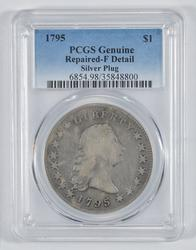 Genuine 1795 Flowing Hair Silver Dollar - Circulated - PCGS