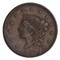 1837 Young Head Large Cent - Sharp