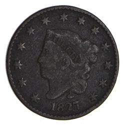 1827 Matron Head Large Cent - Circulated