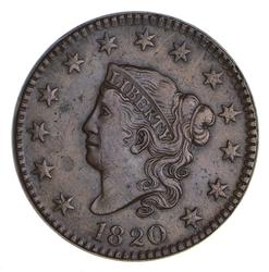 1820 Matron Head Large Cent - N-10 Large Date - Sharp