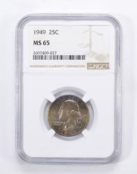 MS65 1949 Washington Quarter - Toned - Graded by NGC