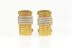 18K Yellow Gold 0.88 Ctw Roberto Coin Primavera Diamond Earrings